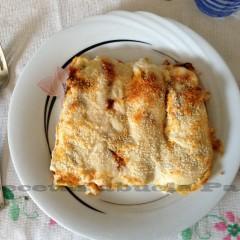 Canelones de pollo y espinacas