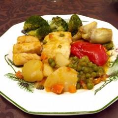Bacalao con verduras ofrecido por María Luisa Lorenzo
