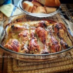 Muslos de pollo con ajos ofrecidos por Carlos Valbuena