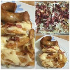Patatas gajo con queso y crujiente de bacon
