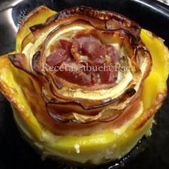 Rosa de patata ofrecida por David